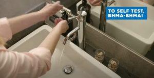 πλύσιμο χεριών για χρήση self test Covid