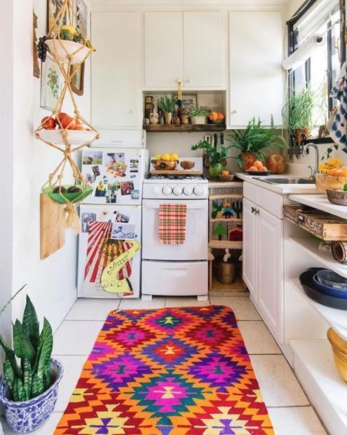 πολύχρωμο χαλάκι κουζίνα μικρή κουζίνα