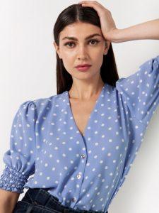 πουά γυναικείο μπλουζάκι