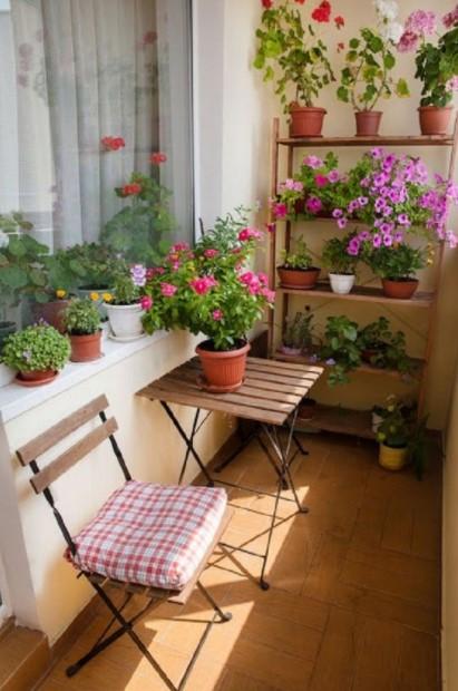 ραφιέρα λουλούδια βεράντα ράφια μπαλκόνι