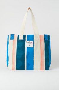 ριγέ καλοκαιρινή τσάντα