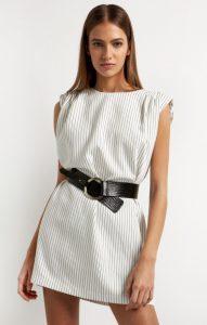 ριγέ mini φόρεμα