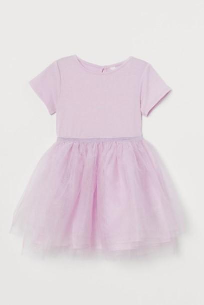 ροζ φόρεμα τούλι παιδικά ρούχα H&M καλοκαίρι 2021