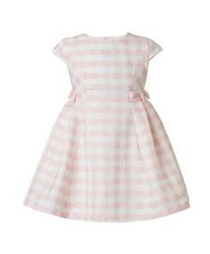 φορεμα καρο ροζ λευκο