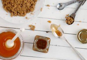 scrub ζαχαρη μελι