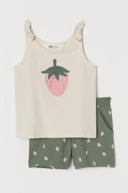 σορτσάκι μπλούζα φράουλα