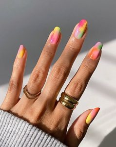 tie dye νύχια