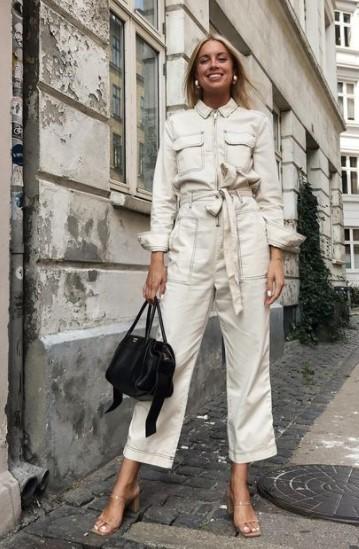 τζιν λευκή ολόσωμη φόρμα