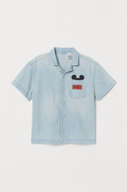 τζιν πουκάμισο παιδικά ρούχα H&M καλοκαίρι 2021