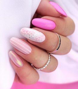 ροζ νυχια με αποχρωσεις του ροζ