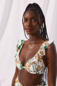 floral top bikini