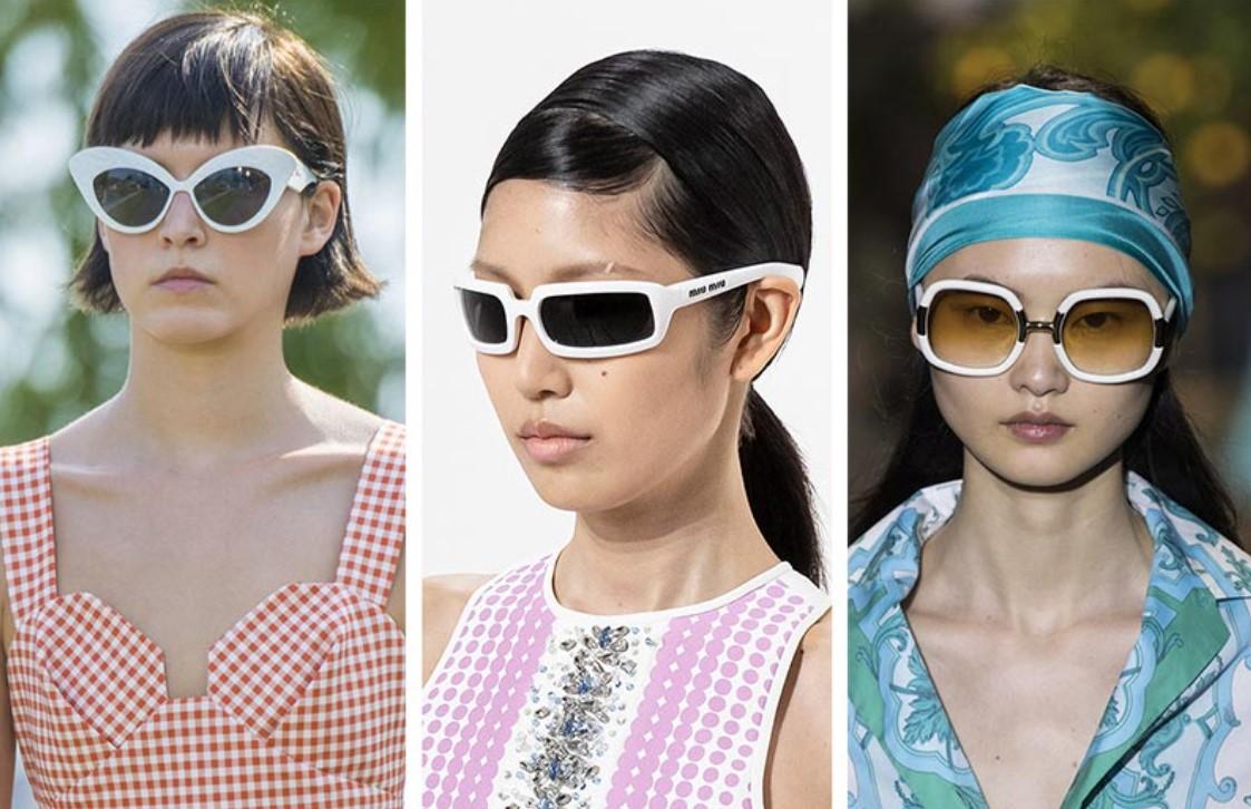 γυαλιά ηλίου με λευκό σκελετό
