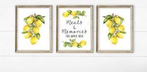 κάδρα με λεμόνια