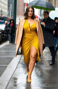 κίτρινο φόρεμα plus size