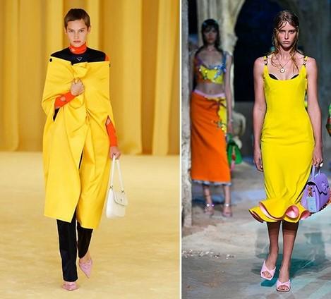 έντονο κίτρινο χρώμα ρούχα καλοκαίρι 2021