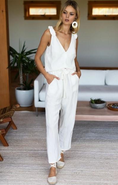 λευκό παντελόνι άσπρο καλοκαιρινά κομμάτια