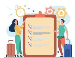 λίστα για το τί να βάλεις στη μικρή βαλίτσα