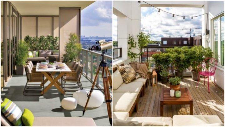 5 Ιδέες για να κάνεις εντυπωσιακό ένα μεγάλο μπαλκόνι!