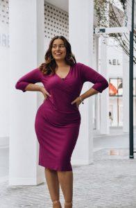 μοβ φόρεμα