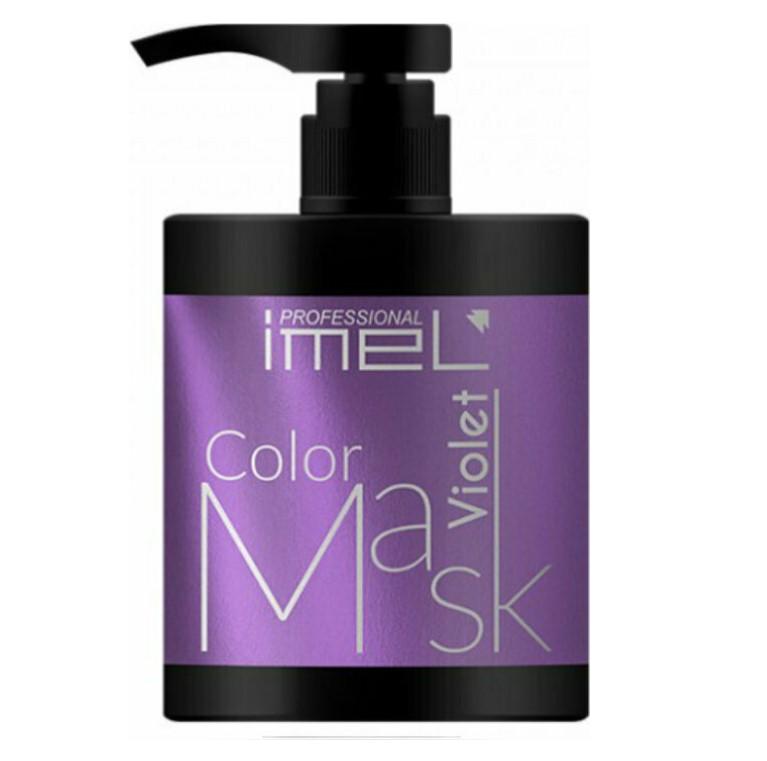 μοβ μάσκα μαλλιών με χρώμα