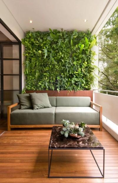 μπαλκόνι τοίχος φυτά τοίχο μπαλκονιού