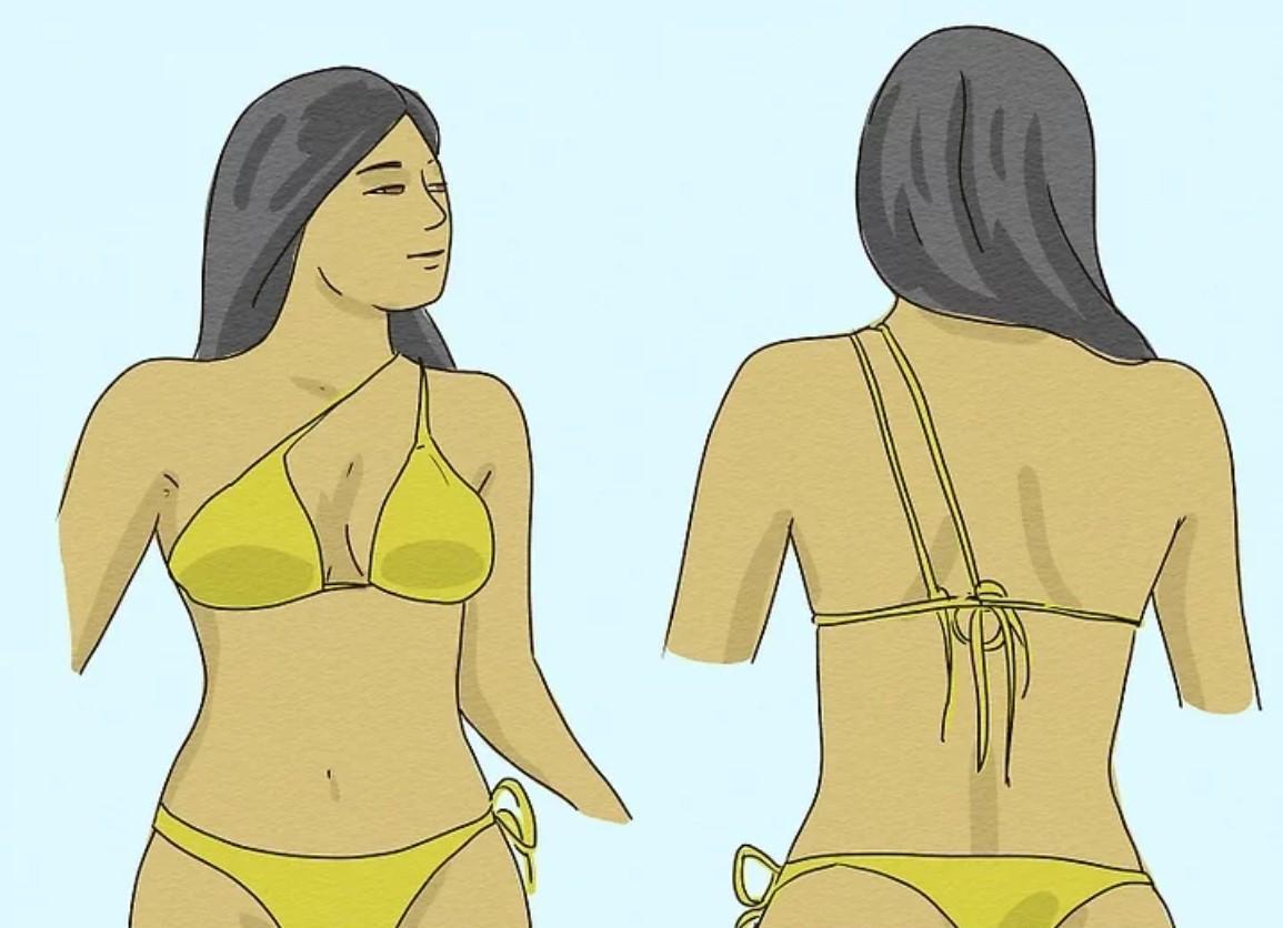 bikini με έναν ώμο