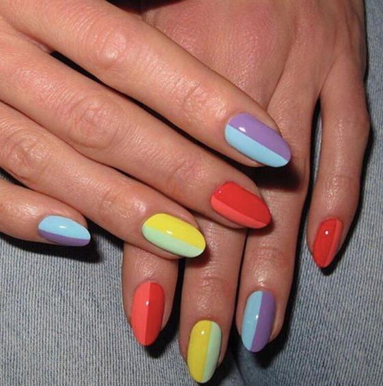 νύχια colorblock χρώματα νύχια καλοκαίρι 2021