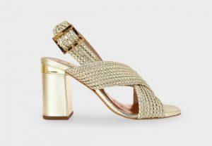 παπούτσια καλοκαίρι χρυσό πέδιλο