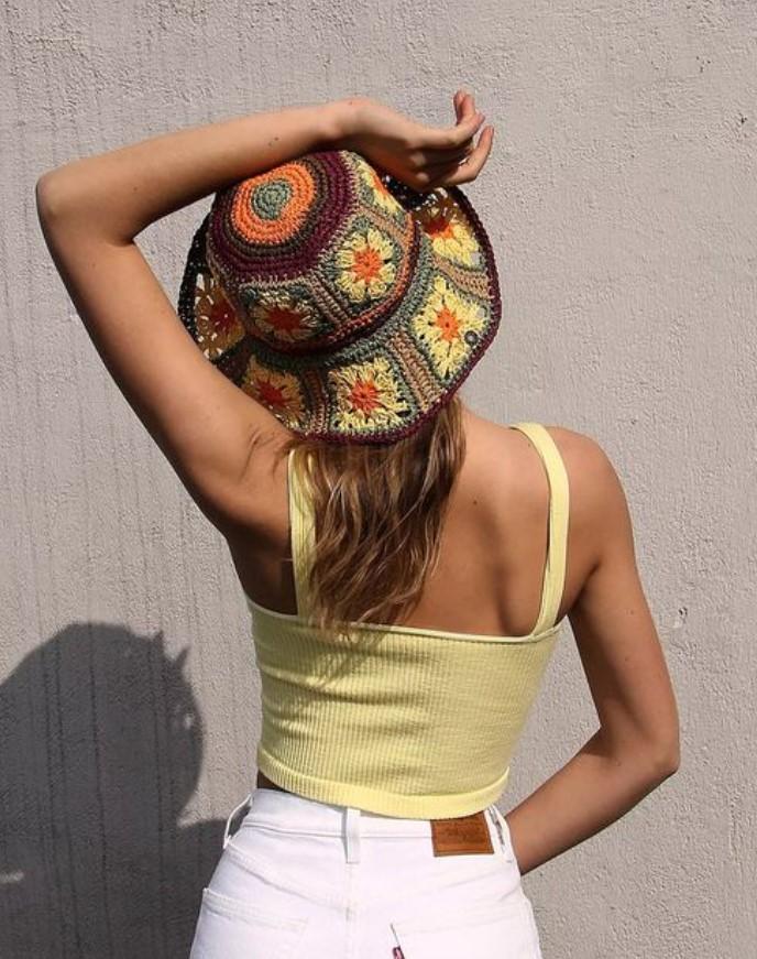 πλεκτό bucket hat
