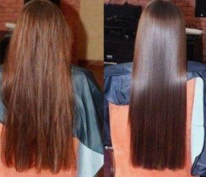 αποτέλεσμα μαλλιά λαμπερά τζελ λιναρόσπορο