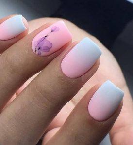 ροζ πρασινα νυχια παλ χρωματα