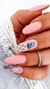 νυχια ροζ με ανανα