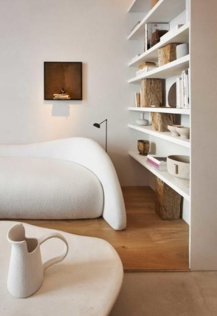 σαλόνι καναπές καμπύλες