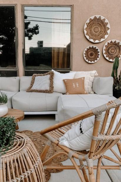 βεράντα καναπές καλάθια
