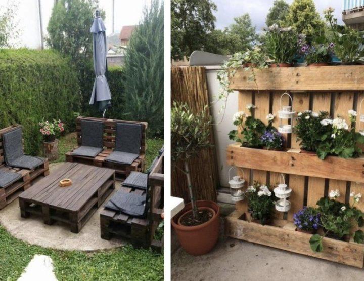 12 Ιδέες με ξύλινες παλέτες που θα ομορφύνουν τον κήπο σου!