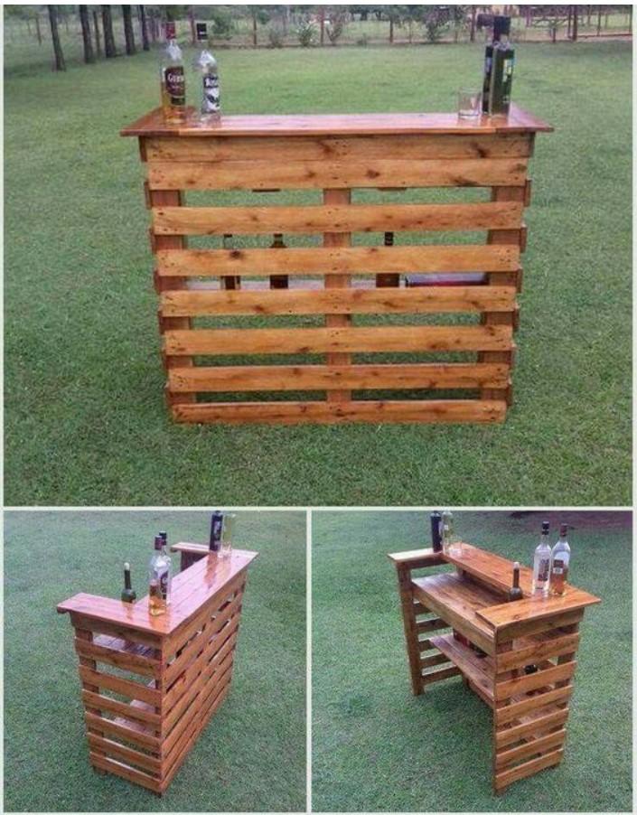 ξύλινη κατασκευή bar στο κήπο