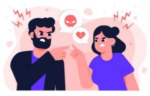 γυναίκα γκρινιάζει στον άντρα