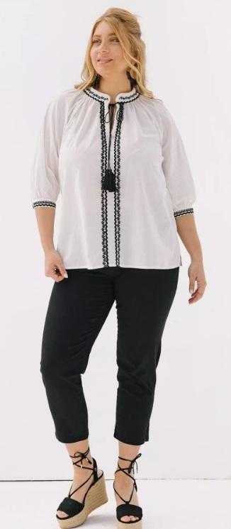 άσπρη ethnic μπλούζα καλοκαίρι 2021