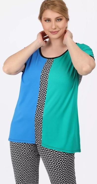 color block plus size γυναικεία μπλούζα ediva.gr