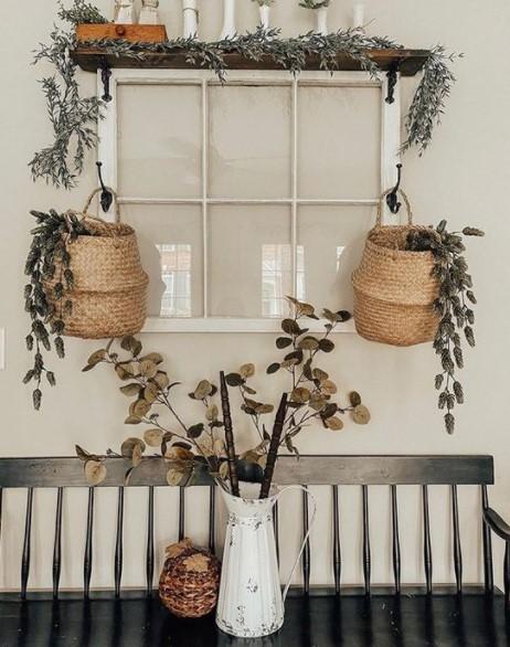 πώς να διακοσμήσεις το σπίτι με παλιά παράθυρα στον τοίχο