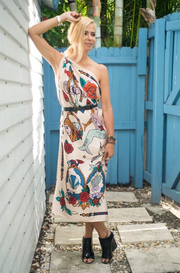 φόρεμα από μαντήλι