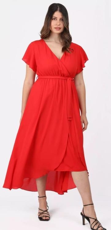 κόκκινο δετό φόρεμα parabita