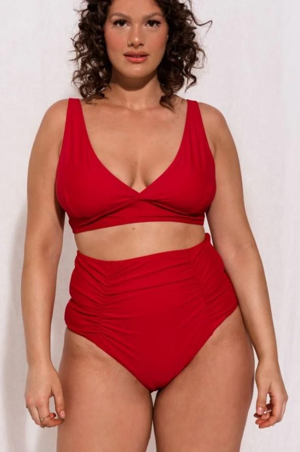 κόκκινο ψηλόμεσο bikini
