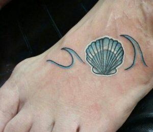 κοχυλι καλοκαιρινα σχεδια για τατουαζ