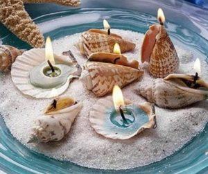 κοχύλι με κερί αμμο 8 Ιδέες για διακοσμητικά από κοχύλια