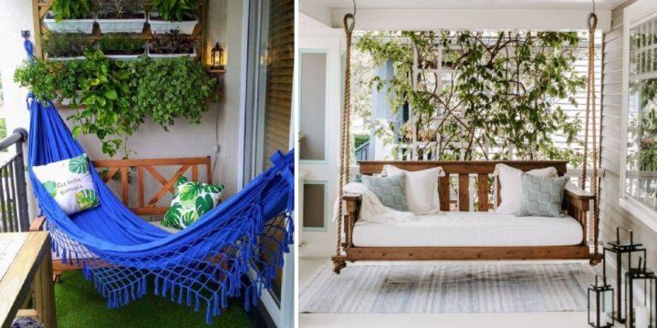 7 Υπέροχες ιδέες για κούνια στο μπαλκόνι σου!