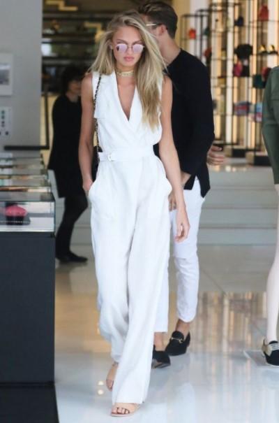 λευκή ολόσωμη φόρμα καλοκαιρινά outfits γραφείο