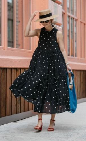 μαύρο φόρεμα μάξι κάπελο