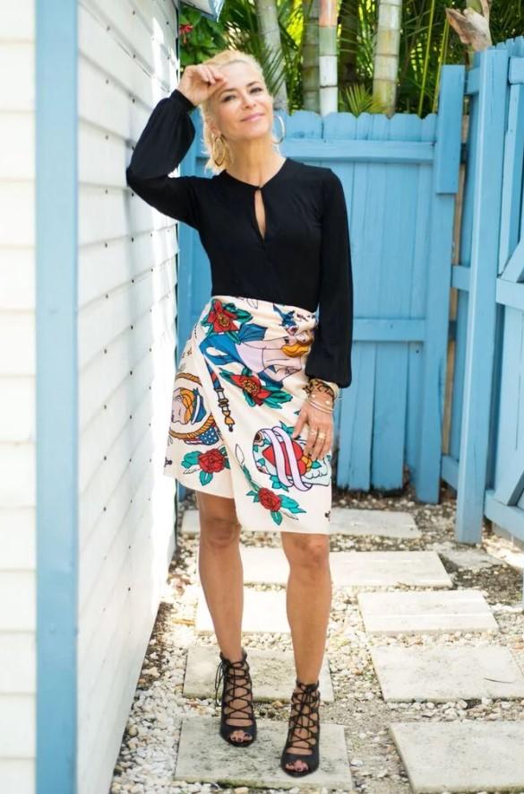mini φούστα από παρεό