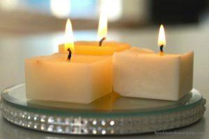 λιωμένα κεριά